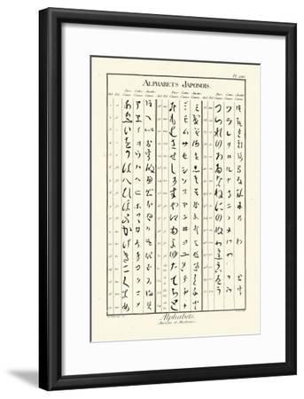 Alphabets Japonois-Denis Diderot-Framed Art Print