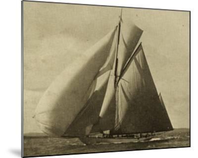 Racing Yachts III-Vision Studio-Mounted Art Print