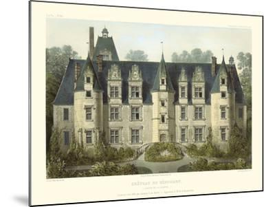 Petite French Chateaux III-Victor Petit-Mounted Art Print