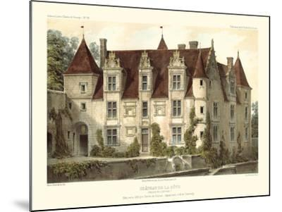 Petite French Chateaux VI-Victor Petit-Mounted Art Print