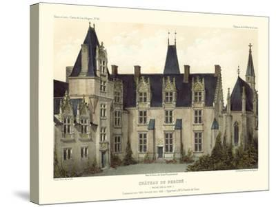 Petite French Chateaux VIII-Victor Petit-Stretched Canvas Print