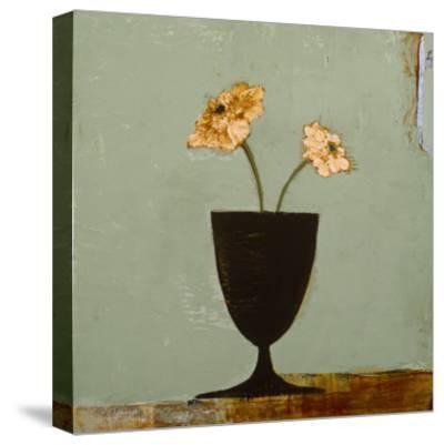 Aqua Floral II-Charlotte Foust-Stretched Canvas Print