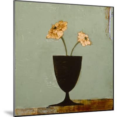 Aqua Floral II-Charlotte Foust-Mounted Premium Giclee Print
