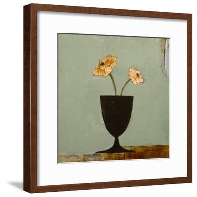 Aqua Floral II-Charlotte Foust-Framed Premium Giclee Print