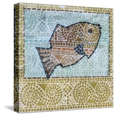 Mosaic Fish-Susan Gillette-Stretched Canvas Print