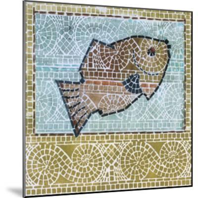 Mosaic Fish-Susan Gillette-Mounted Premium Giclee Print
