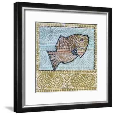 Mosaic Fish-Susan Gillette-Framed Premium Giclee Print