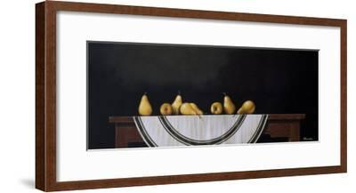 Striped Tablecloth-Chavelle-Framed Premium Giclee Print