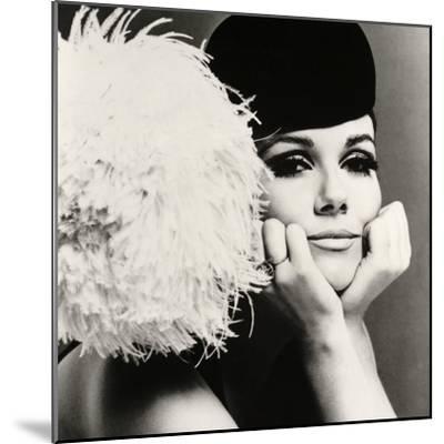 Nicole de la Marge in a Peter Shepherd Velvet Cap, 1965-John French-Mounted Giclee Print