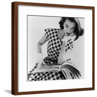 Helen Bunney in a Dress by Blanes, 1957-John French-Framed Giclee Print