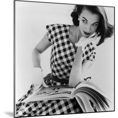Helen Bunney in a Dress by Blanes, 1957-John French-Mounted Giclee Print