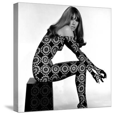 Circle Patterned Projection on Profile of Model, 1960s-John French-Stretched Canvas Print