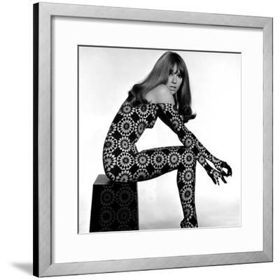 Circle Patterned Projection on Profile of Model, 1960s-John French-Framed Giclee Print