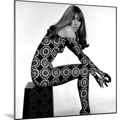 Circle Patterned Projection on Profile of Model, 1960s-John French-Mounted Giclee Print