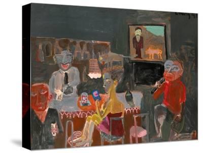 Night Life of Karaoke-Zhang Yong Xu-Stretched Canvas Print