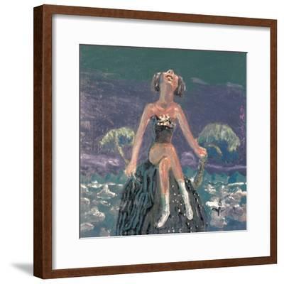Hearing the Wind-Zhang Yong Xu-Framed Premium Giclee Print