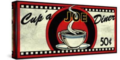 Cup 'a Joe Diner-Kate Ward Thacker-Stretched Canvas Print