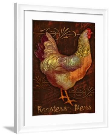 Roosters & Hens-Kate Ward Thacker-Framed Giclee Print