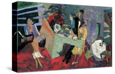 A Party at a Hotel-Zhang Yong Xu-Stretched Canvas Print