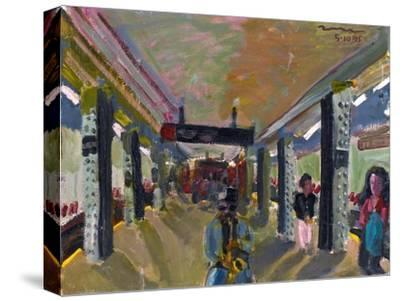Saxophone in the Subway-Zhang Yong Xu-Stretched Canvas Print