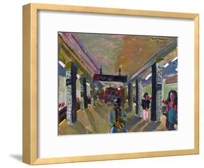 Saxophone in the Subway-Zhang Yong Xu-Framed Premium Giclee Print