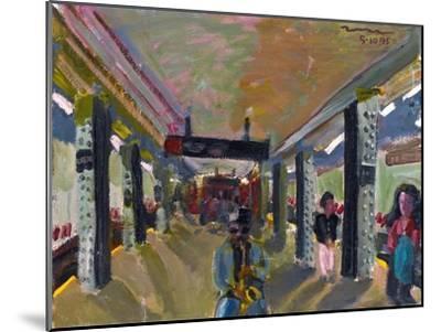 Saxophone in the Subway-Zhang Yong Xu-Mounted Premium Giclee Print