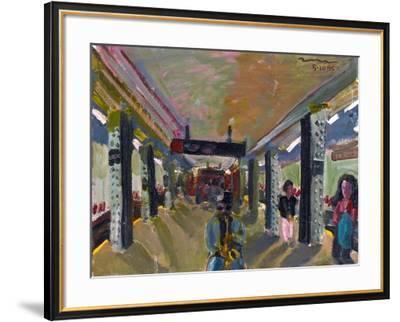 Saxophone in the Subway-Zhang Yong Xu-Framed Giclee Print