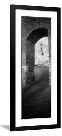 Church Viewed Through an Archway, Puerta Del Sol, Medina Sidonia, Cadiz, Andalusia, Spain--Framed Photographic Print