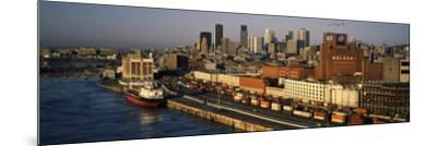 Harbor with the City Skyline, Montreal, Quebec, Canada--Mounted Photographic Print