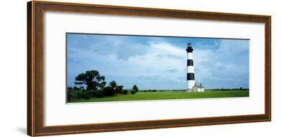 Lighthouse in a Field, Bodie Island Lighthouse, Bodie Island, North Carolina, USA--Framed Photographic Print