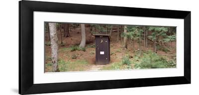 Outhouse in a Forest, Adirondack Mountains, New York State, USA--Framed Photographic Print