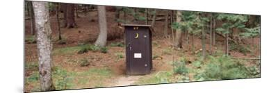 Outhouse in a Forest, Adirondack Mountains, New York State, USA--Mounted Photographic Print