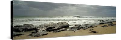 Rock Formations on the Beach, Jeffreys Bay, Eastern Cape, South Africa--Stretched Canvas Print