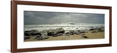 Rock Formations on the Beach, Jeffreys Bay, Eastern Cape, South Africa--Framed Photographic Print
