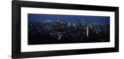 Skyscrapers in a City, Montreal, Quebec, Canada--Framed Photographic Print