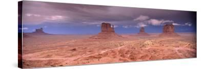 Thunderstorm over a Landscape, Monument Valley, San Juan County, Utah, USA--Stretched Canvas Print