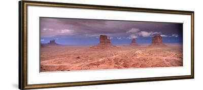 Thunderstorm over a Landscape, Monument Valley, San Juan County, Utah, USA--Framed Photographic Print