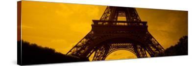 View of a Tower, Eiffel Tower, Champ De Mars, Paris, Ile-De-France, France--Stretched Canvas Print