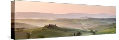 Belvedere at Dawn, Valle De Orcia, Tuscany, Italy-Nadia Isakova-Stretched Canvas Print