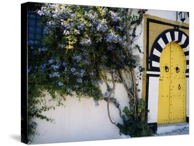Tunis, Sidi Bou Said, A Decorative Doorway of a Private House, Tunisia-Amar Grover-Stretched Canvas Print