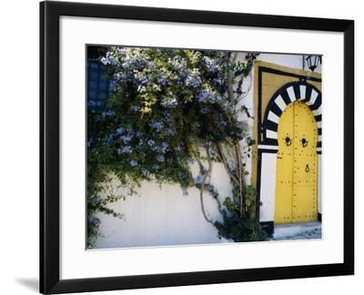Tunis, Sidi Bou Said, A Decorative Doorway of a Private House, Tunisia-Amar Grover-Framed Photographic Print