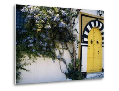 Tunis, Sidi Bou Said, A Decorative Doorway of a Private House, Tunisia-Amar Grover-Metal Print