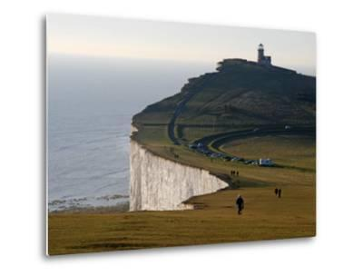 East Sussex, Beachy Head Is a Chalk Headland on South Coast of England, England-David Bank-Metal Print