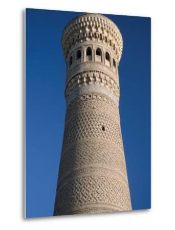 Kalyan Minaret Which Allegedly Awed Genghis Khan-Amar Grover-Metal Print