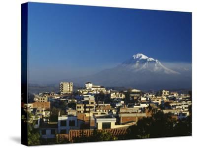 Dawn over Chimborazo, Ecuador's Highest Mountain at 6310M-Julian Love-Stretched Canvas Print