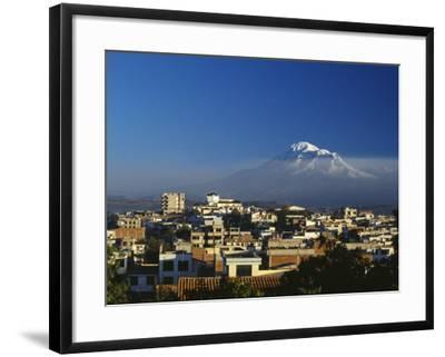 Dawn over Chimborazo, Ecuador's Highest Mountain at 6310M-Julian Love-Framed Photographic Print