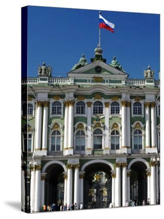 St Petersburg, Main Entrance to the Saint Hermitage Museum or Winter Palace, Russia-Nick Laing-Stretched Canvas Print