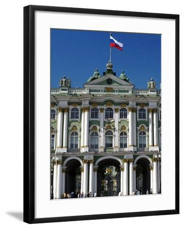 St Petersburg, Main Entrance to the Saint Hermitage Museum or Winter Palace, Russia-Nick Laing-Framed Photographic Print