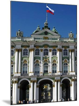 St Petersburg, Main Entrance to the Saint Hermitage Museum or Winter Palace, Russia-Nick Laing-Mounted Photographic Print