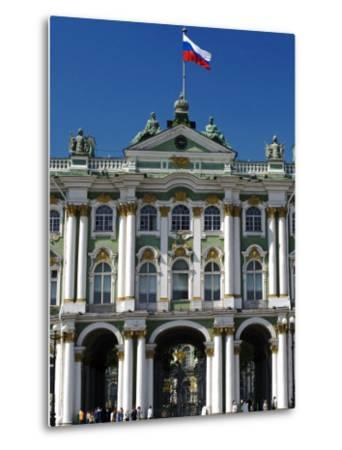 St Petersburg, Main Entrance to the Saint Hermitage Museum or Winter Palace, Russia-Nick Laing-Metal Print